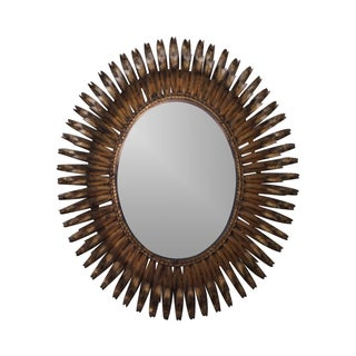 1960s Italian Oval Sunburst Mirror