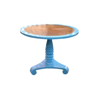 Painted Blue Maple Foyer Table