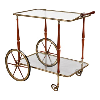 Bar Cart in the Manner of Aldo Tura, circa 1950