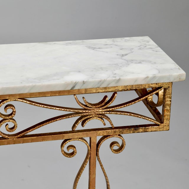 Spanish Wall Hung Console with Gilt Metal and Marble Top - Image 5 of 8