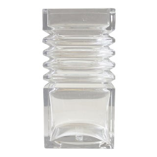 Riihimaen Finland Harmonikka Glass Vase Modernist Tamara Aladin Riihimaki Lasi Oy