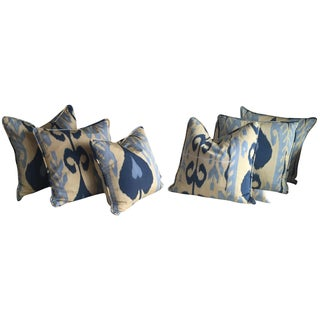 Madeline Weinrib Ikat Silk Pillows - Set of 6