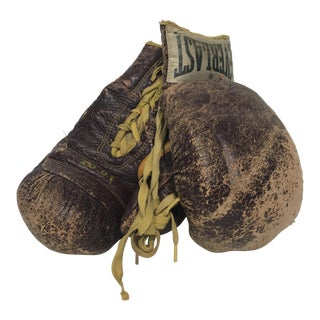 Vintage Everlast Leather Boxing Gloves