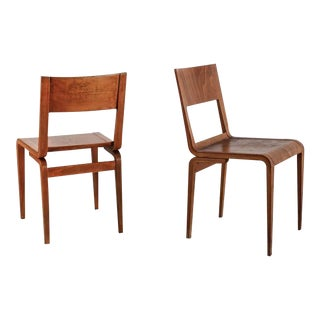 Erich Menzel Pair of Plywood Chairs for Deutsche Werkstätten, 1950s