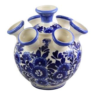 Delft Hand-Painted Blue & White Porcelain Bud Vase