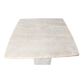 Italian Travertine Marble Side Table
