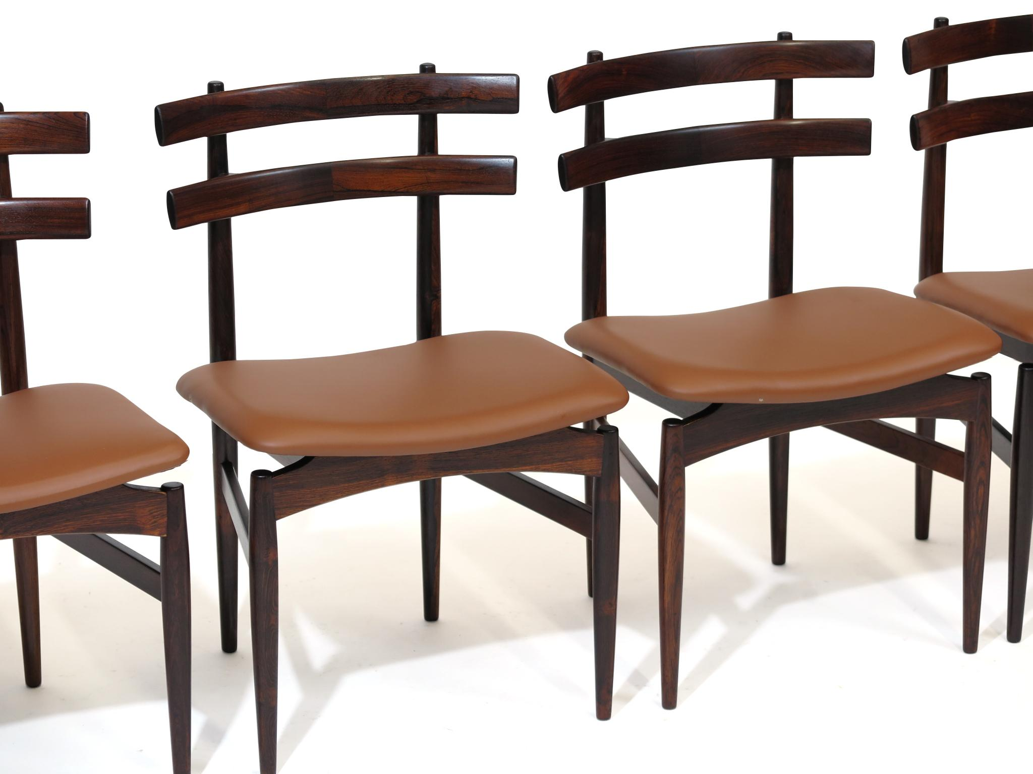 Poul Hundevad Sculpted Brazilian Rosewood Danish Dining Chairs   Image 7 Of  11