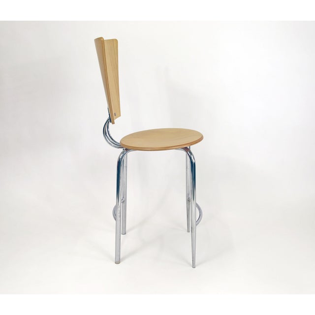 Image of Vintage Post Modern Memphis Era Barstools - A Pair