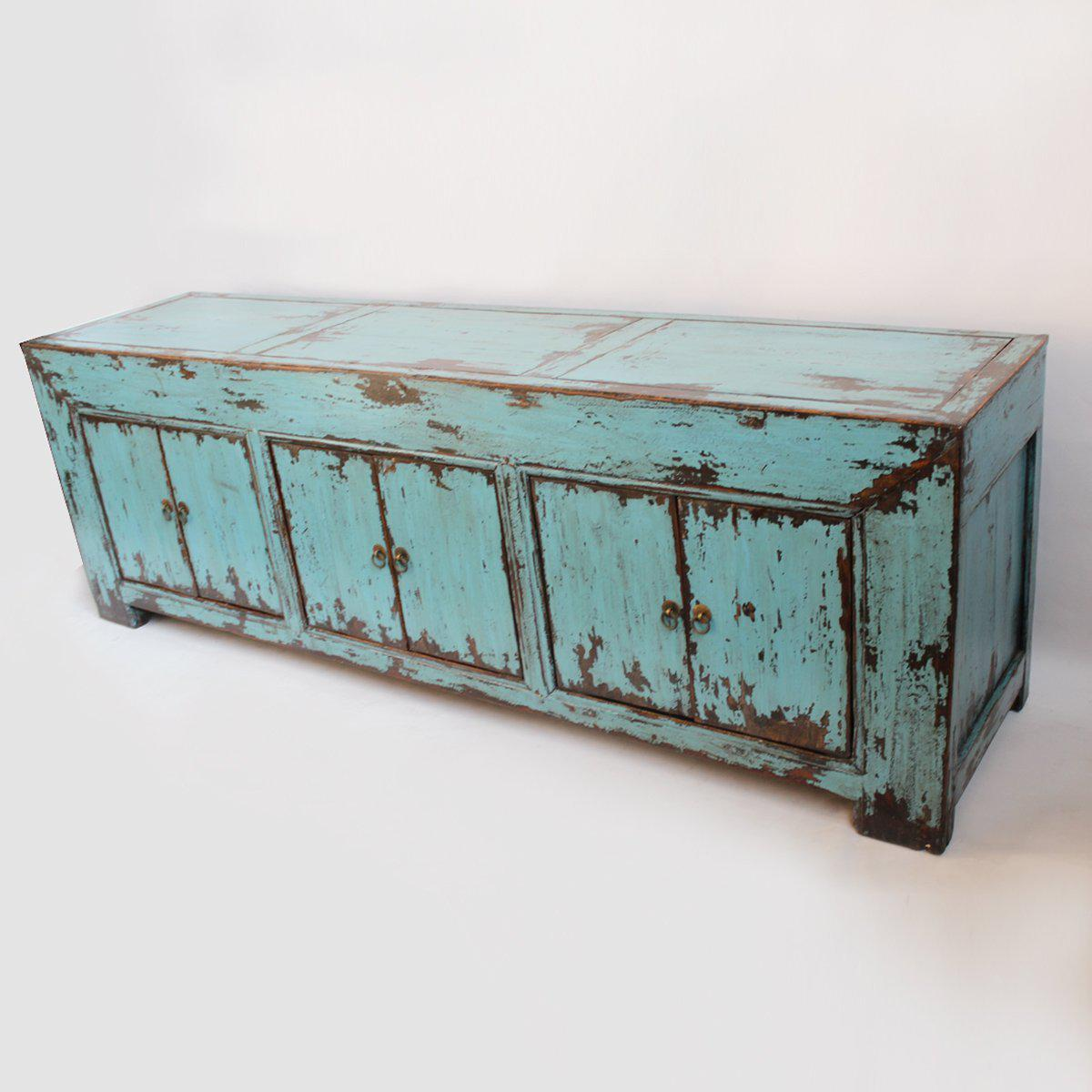 Delightful Turquoise Ming Media Cabinet   Image 3 Of 5
