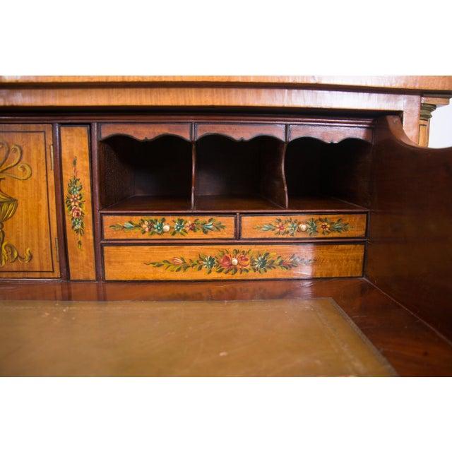 English Adams Style Painted Satinwood Secretary - Image 8 of 10