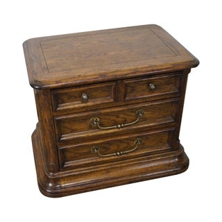 Century French Country 3 Drawer Oak Nightstand Chest