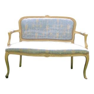 French Rococo Gilt Louis XVI Settee