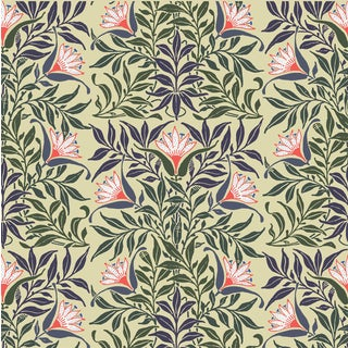 Flower Vine Wallpaper Roll Remnant by Mitchell Black Home