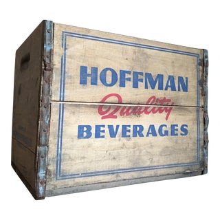 Vintage Hoffman Quality Beverages Wooden Crate