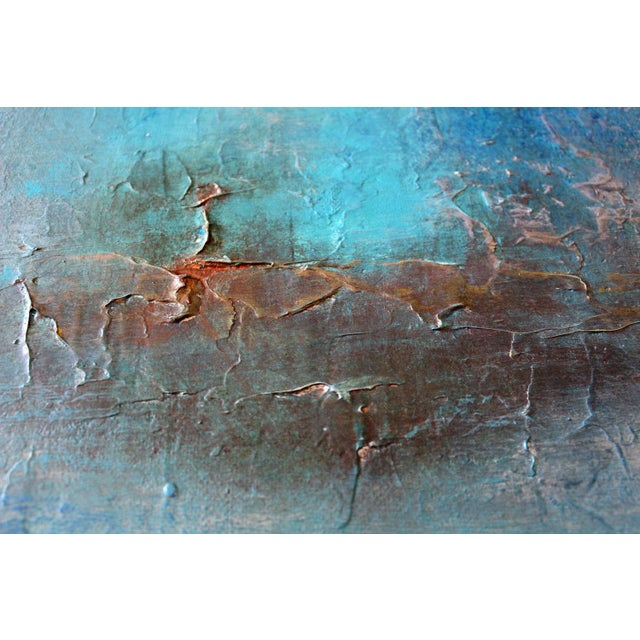 """""""Inca"""" Original Textured Abstract Painting - Image 3 of 5"""