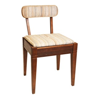 Mid Century Modern Storage Seat Sewing Stool