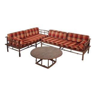 Old Hickory Style Sofa, Chaise & Coffee Table - 3