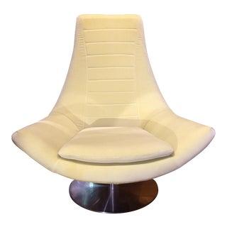 Mid Century Style Italian Swivel Lounge Chair