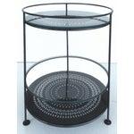 Image of French Enameled Iron Bi-Level Bar Side Table