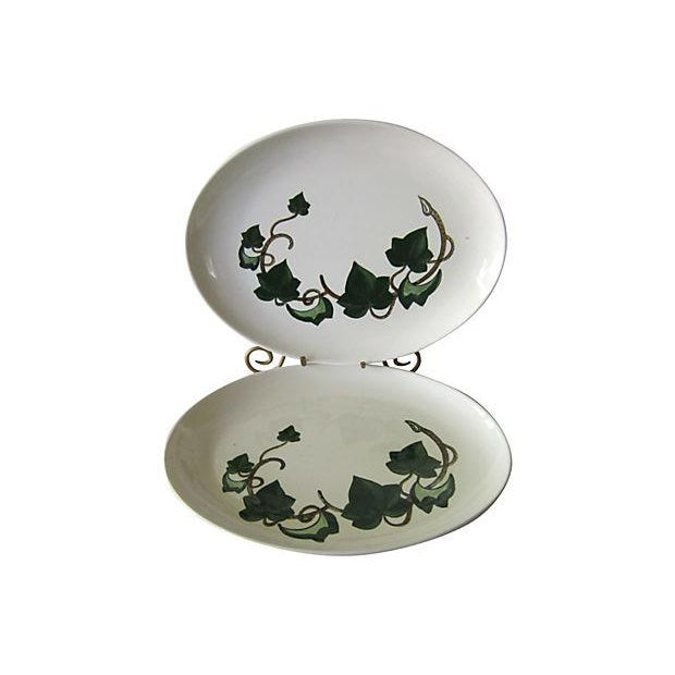 Image of Poppytrail California Ivy Oval Platters - A Pair