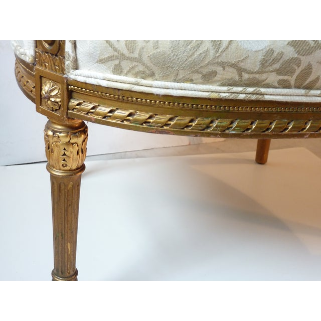 French Giltwood Bergere Chair - Image 8 of 11