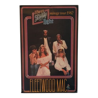 Schlitz Light Fleetwood Mac 1982 Mirage Tour Poster