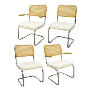 Cesca Breuer Style Dining Chairs - Set of 4