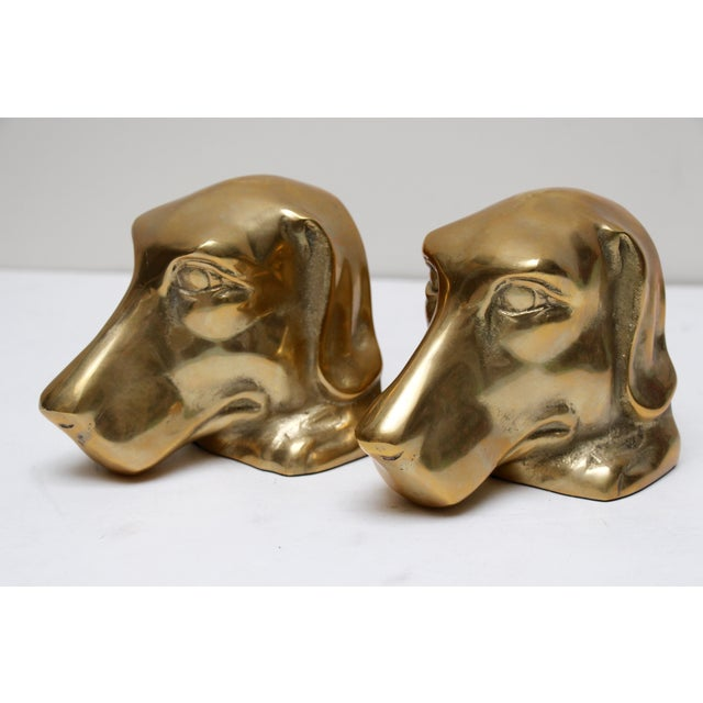 Solid Brass Labrador Bookends - A Pair - Image 2 of 8
