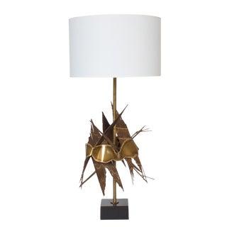 Tom Greene Brutalist Metal Table Lamp