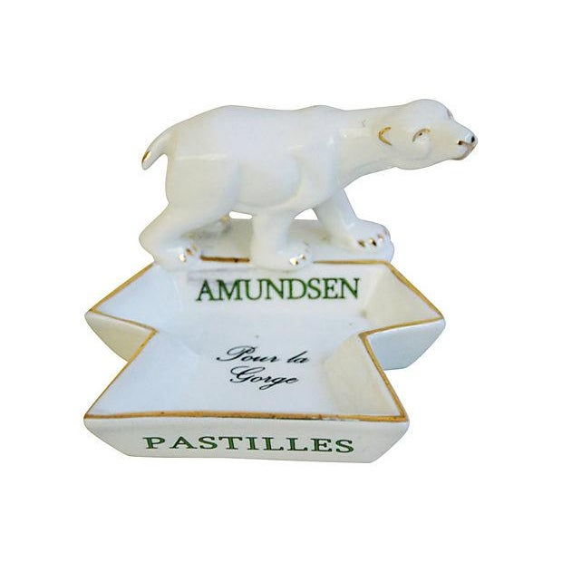 French Porcelain Amundsen Match Striker Ashtray - Image 6 of 7