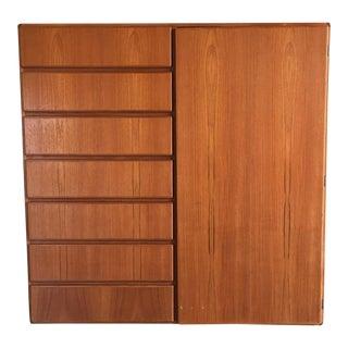 Danish Modern Komfort Teak Wardrobe Dresser
