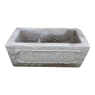 Hand Chiseled Stone Basin