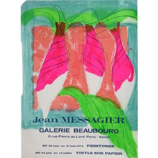 """1975 """"Galerie Beauborg"""" Poster by Jean Messagier"""