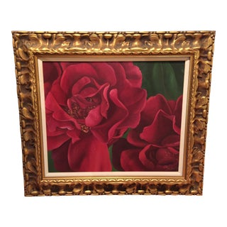 Original Oil Painting of Roses