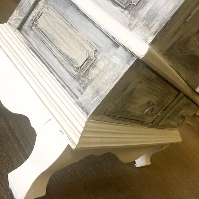 Vintage Distressed White Wine Cabinet - Image 7 of 8