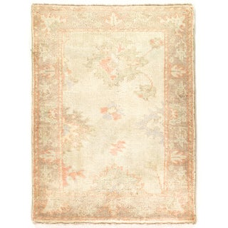"Hand Knotted Oushak Rug - 2'1"" X 2'11"""