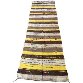 Flat Weave Kilim Moroccan Runner - 3′9″ × 11′4″
