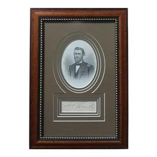 General Ulisses S. Grant -US Civil War -Genuine Signature -c.1864
