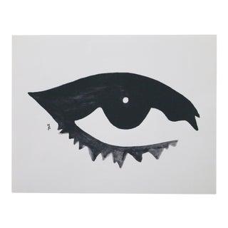 Black & White Open Eye Lithograph