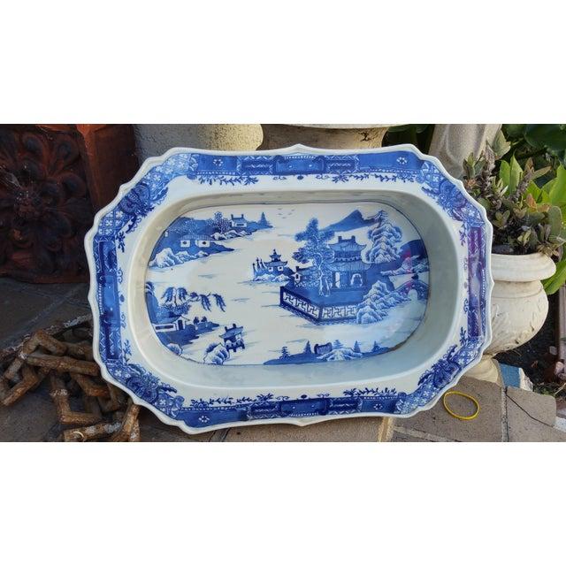 Chinese Filigree Porcelain Serving Platter - Image 5 of 6
