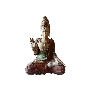 Medicine Buddha Wood Sculpture