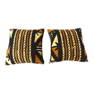 African Mud Cloth Pillows - a Pair