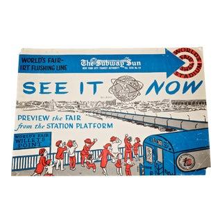1960's New York City World's Fair Subway Poster