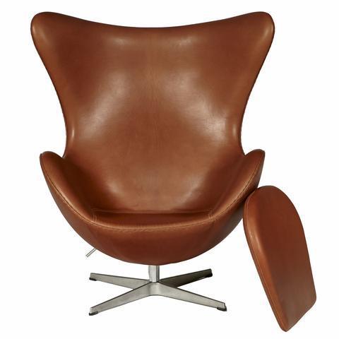 arne jacobsen for fritz hansen leather egg chair image 6 of 10
