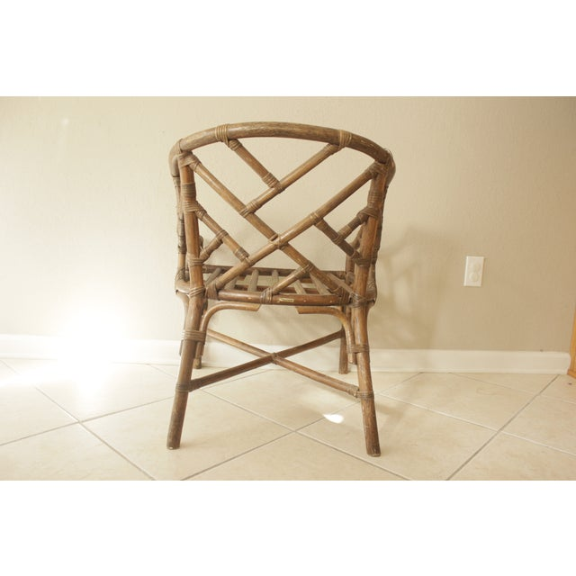 Rattan Chippendale Barrel Armchair - Image 5 of 7