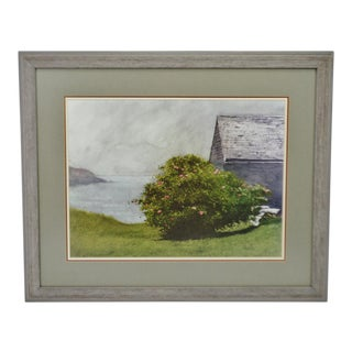 Vintage Framed Seascape Print Under Anti-reflective Glass