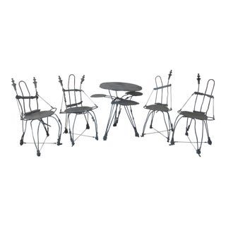 Vintage ''Fairy Made'' Steel Bistro Dining Set