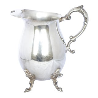 Beautiful Sheridan Hallmarked Silverplate Footed Pitcher