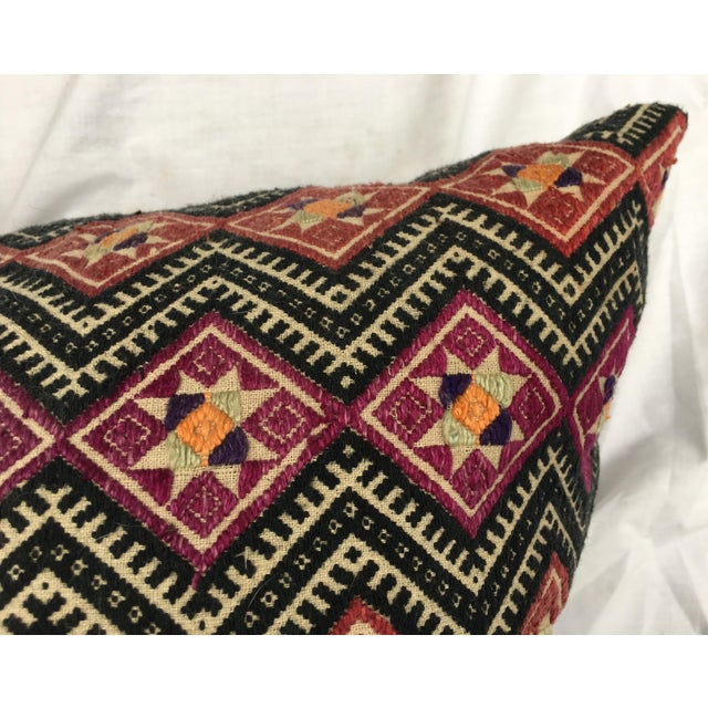 Image of Antique Dragon Back Wedding Quilt Pillow