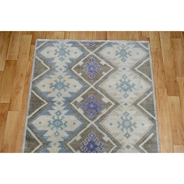 Hand-Knotted Antiqued Turkish Rug - 3′1″ × 5′7″ - Image 7 of 9